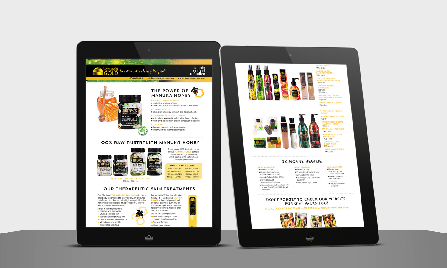 Email version of product flyer